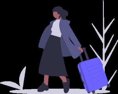 baba z walizka